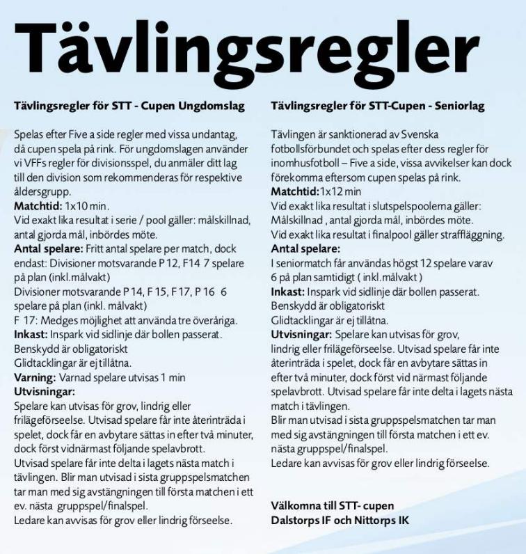 Regler STT-cupen 2014