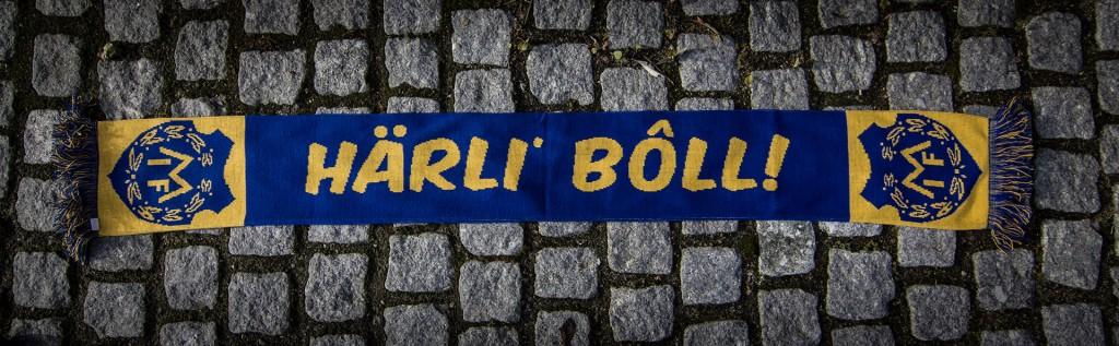 """MIF Halsduk """"Härli' bôll"""" 2014 back"""